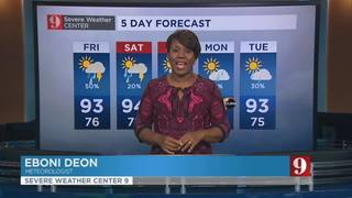 5 day forecast: up & down rain chances