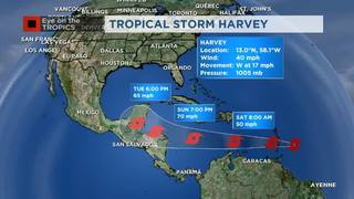 NEW: Harvey on the move & strong wave behind it!