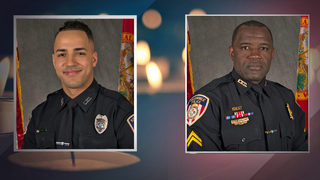 Two Florida police officers fatally shot, suspect in custody