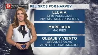 Harvey: Inundaciones y marejadas por tormenta peligrosas probables