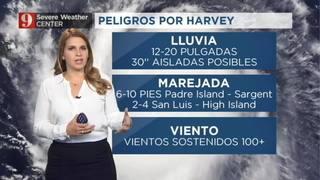 Harvey rumbo a Texas