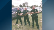 Three Lake County deputies caught a 9-foot python that was slithering around Eustis