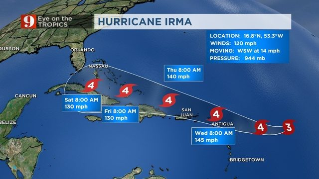 Hurricane Irma becomes Category 4 winds top 145 mph  WFTV