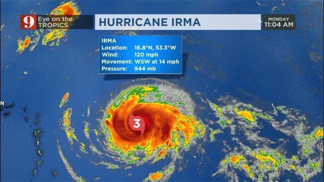 hurricane irma  storm nears caribbean