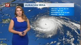 Irma continúa intensificándose