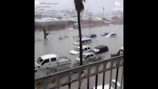 Raw video: Flooding, damage in St. Martin
