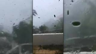 Video: Hurricane Irma blows off roof of building