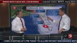 5:00PM Track Update for Hurricane Irma