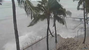 Heavy winds in Key West as Hurricane Irma approaches.