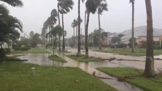 Raw video: High winds, storm damage in Indialantic in Brevard County