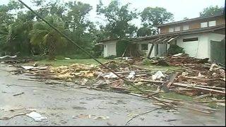 Raw video: Tornado damage on Worth Court in Palm Bay