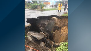 Video: Road washes out in Cocoa