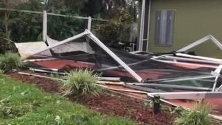 Raw video: Hurricane Irma damages home and downs trees on Merritt Island