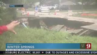Road washed out in Winter Springs