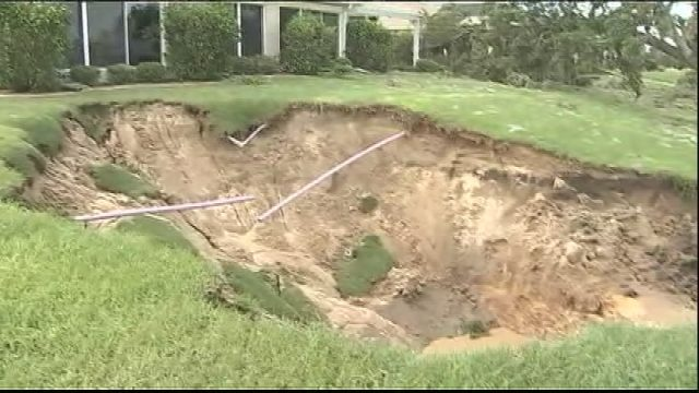Sinkhole forms in The Villages during Hurricane Irma  WFTV