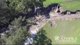 VIDEO: Massive sinkhole opens up behind Apopka Middle School