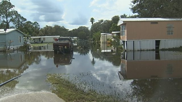 At Least 15 Homes In The Country Life Mobile Home Park Along State Road 33 Leesburg Are Unlivable With Serious Flooding And Large Sections Invaded By