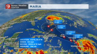 Maria: Monday Morning Update