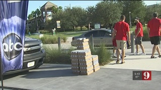 Cox Media Group Orlando gave away free ice to those affected by Irma
