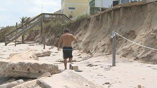 Video: Irma caused massive beach erosion in some areas
