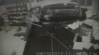 Video: Thief breaks into several businesses during Hurricane Irma