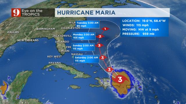 WATCH: Hurricane Maria heads toward Turks and Caicos Islands