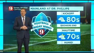 Football Friday Night forecast Sept. 22