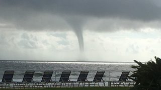 Raw video: Daytona Beach waterspout