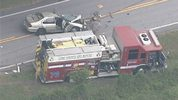 Crash involving fire truck in Lake County