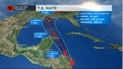 Tropical Storm Nate forms in the Caribbean.