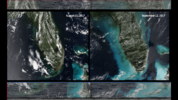 The images were taken by The Visible Infrared Imaging Radiometer Suite (VIIRS) aboard the NOAA-NASA Suomi NPP satellite.