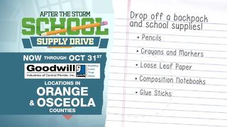 Colecta de útiles escolares para víctimas del hurac