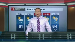 5 day forecast: warming temperatures, mostly dry