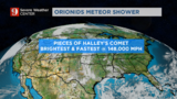 Mostly clear skies in Central Florida just in time for Orionids meteor shower