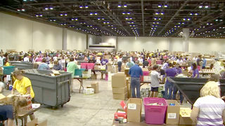 Volunteers in Orlando still working to package millions of meals for Puerto Rico hurricane victims