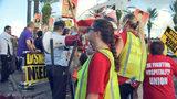 Deputies break up rally of hundreds of Disney workers demanding pay increase