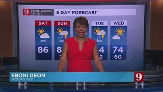 5 day forecast: Scattered showers & storms this weekend, before a cold front