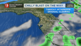 Time to dust off the jackets, chilly blast on the way to Central Florida