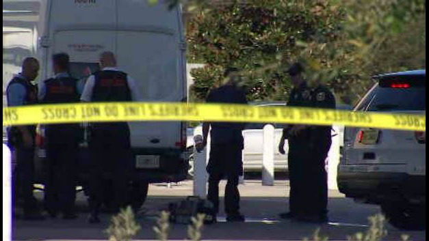 Armored car security officer shoots man who pepper sprayed him during robbery