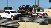 A man was hospitalized after crashing a pickup truck into a toll booth on State Road 408 Saturday morning, Orlando police said.