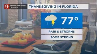 Warm Wednesday; wet Thanksgiving