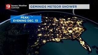 Geminids meteor shower peak this week