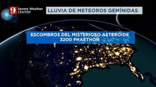 La lluvia de meteoros geminidas en su pico esta semana