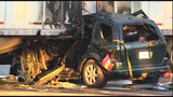 Police: 2 injured in fiery crash involving SUV, tractor-trailer in Orlando