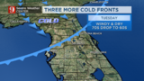 Steady chilly temperatures, reinforcing cold ahead