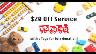 Help Toys for Tots and get money off your auto service