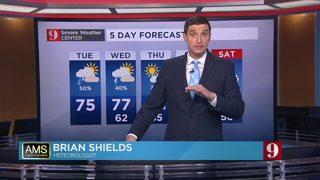 Milder, rain showers possible