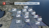 Freeze warnings tonight, winds will make it feel colder