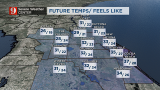 Bundle up! Temps fall quick after sunset
