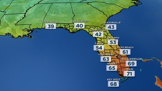 Rain exits Central Florida; chill lags